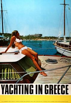 Year 1969 - Yachting in Greece - Published by: G.N.T.O. - Designed by: N. Kostopoulos - Photo: N. Mavrogenis