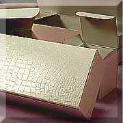 White Alligator Embossed Tuck Top Boxes (100/$16.80)