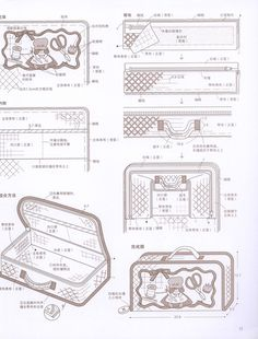 Japanese Bag, Japanese Quilts, Sewing Case, Sewing Box, Patchwork Bags, Quilted Bag, Bag Patterns To Sew, Sewing Patterns, Sunbonnet Sue