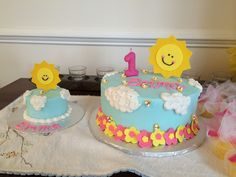 You Are My Sunshine Cake! | one mom & a mixer