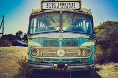 The old times bus of Kythera! Athens Greece, Getting Old, Old Photos, Abandoned, Transportation, Greek, Old Things, Ford, Island