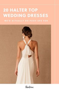20 Halter-Top Wedding Dresses We'd Actually Do Push-Ups For planning markle Trumpet Gown, Trumpet Skirt, Wedding Skirt, Top Wedding Dresses, Meghan Markle Wedding Dress, Reception Gown, High Low Gown, White By Vera Wang, Alternative Wedding Dresses