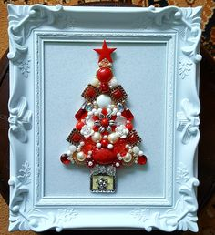 Red and white Christmas jewellery picture