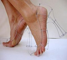 #weird #shoes #wire #funny #heels #impossiblefashion