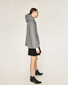 Image 3 of SHORT COAT WITH WRAPAROUND COLLAR from Zara