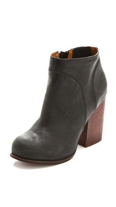 Jeffrey Campbell Hanger Leather Raw Bootie