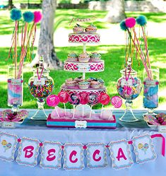 Sweet Shoppe Birthday Party! Will be doing this for Joie's party this Saturday!