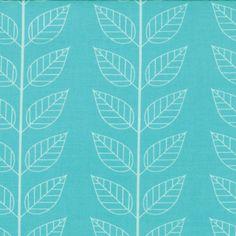 Simply Color - Leafy Stripe in Aquatic Blue - SKU 10805 19 - by V and Co for Moda Fabrics - 1 Yard. $7.85, via Etsy.