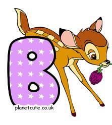 Planet Cute - Alphabet - Bambi - Image Bambi, Disney Letters, Cute Alphabet, Letters And Numbers, Planets, Pikachu, Disney Characters, Fictional Characters, Image