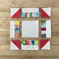"Today I'll be sharing a quick tutorial to make this pint sized scrappy churn dash block. It will finish at 4 1/4""!!!! If you make 4 of the..."