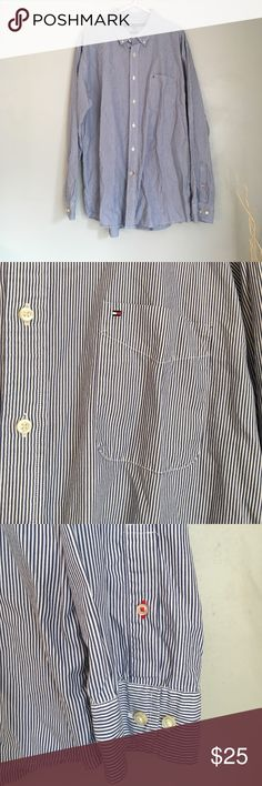 Tommy Hilfiger Classic Fit Men's Button Down Shirt Tommy Hilfiger Classic Fit Men's Button Down Striped Shirt. Worn and washed. Smoke/animal free home. EUC. Tommy Hilfiger Shirts Casual Button Down Shirts