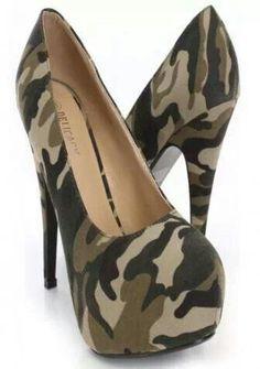 Camo heels...get in gear! www.destinysbox.com