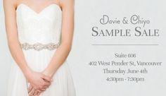 Davie Chiyo Sample Sale June 4 2015