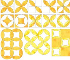 Orange Peel Quilt Shapes