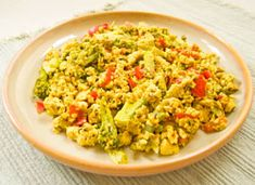 Nutritional analysis per serving: calories 155, carbohydrates 5.1 g, fiber 2.0 g, protein 10.2 g, fat 11.6 g, cholesterol 0 mg, sodium 184 mg, calcium 260 mg. Scrambled Tofu RecipeBy Mark Hyman, MD Published: July 31, 2012Yield: 4 ServingsPrep: 5 minsCook: 10 minsReady In: 15 minsNutritional analysis per serving: calories 155, carbohydrates 5.1 g, fiber …