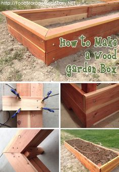 How to Build the Easiest Garden Box Easy garden Garden boxes