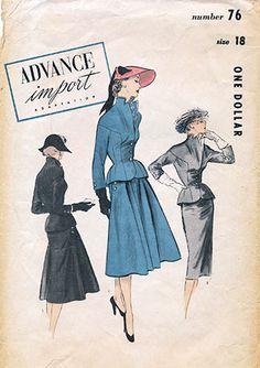 Advance 79 (1950s) Suit Pattern