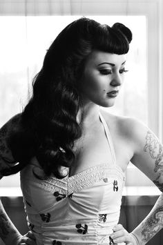 Love the cherries. #pinup #vintage #tattoo #rockabilly