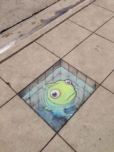 Chalk Art by David Zinn in Michigan, USA374567
