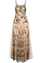 La Naissance D'Aphrodite besticktes Nachthemd aus Tüll