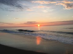 Sunrise in Ocean City Maryland July 6, 2016. Today's Sunrise gives a sense of 'serenity!' Enjoy! William www.cooksquotes.com.  Thoughts and Ideas of William W Cook