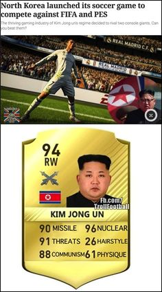 """North Korea launches its own football game """