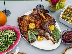 Get Sunny's Butterflied Grilled Turkey with Lemon Pepper Glaze Recipe from Food Network