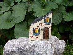 HAND PAINTED ROCK French Town House | Flickr - Photo Sharing!