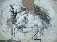 Clown Paintings, Animal Paintings, Horse Paintings, Pastel Paintings, Painted Horses, Abstract Horse Painting, Horse Sculpture, Animal Sculptures, Horse Artwork