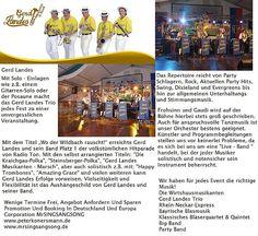 Band Gerd Landes Booking In Deutschland Und Europa