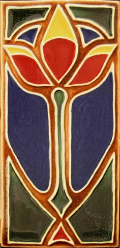 craftsman style art tile | Arts and Crafts tile | Arts and Crafts/Craftsman Style