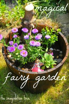 make a fairy garden with kids - The Imagination Tree