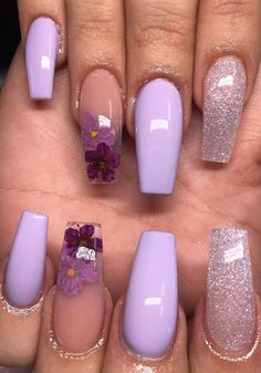 5 Different Acrylic nails ideas and How to Acrylic Nails Every day, the methods that people develop to flourish and care are growing rapidly. One of these is the acrylic nail fashion which has been on too many agenda lately. So, what is this acrylic nail? Purple Acrylic Nails, Purple Nail Art, Clear Acrylic Nails, Acrylic Nail Art, Acrylic Nail Designs, Gel Nails, Nail Polish, Coffin Nails, Glitter Nails