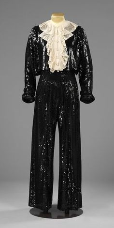 1937-1938 Trouser Suit and Blouse Designed by Gabrielle 'Coco' Chanel, in the Victoria and Albert Museum Collection, London, via @~ Mlle.
