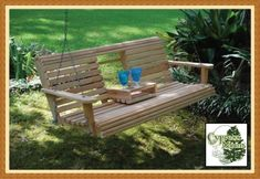 Cypress Moon Porch Swing with Fold out console! (and the clouds parted and the angels sing!)