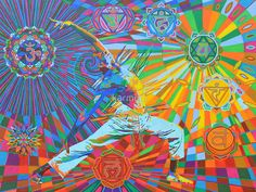 Yoga Art by Karmym - Yoga is like music. The rhythm of the body, the melody of the mind and the harmony of the soul create the symphony of life. Yoga Painting, Painting & Drawing, Art Chakra, Spiritual Paintings, Yoga Art, Psychedelic Art, Medium Art, Fine Art America, Saatchi Art