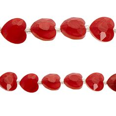 Bead Gallery® Heart-Shaped Opaque Beads, Red - Item # 10194339 - $7.99    Ideal for all your jewelry making and beading projects! Use these beautiful heart-shaped beads to design necklaces and earrings, adorn clothing, embellish cards or scrapbooks, decorate everyday items and so much more.     Details: Red; 15 mm bead, 7 beads