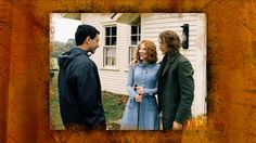 M. Night Shyamalan, Bryce Dallas Howard, and Adrien Brody on the set of The Village (2004).