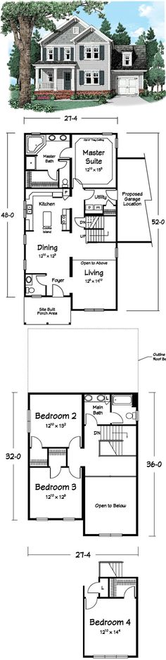 Two Story Plans On Pinterest Modular Homes Galley