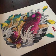 "354 Likes, 4 Comments - Arran Burton (@arranburton) on Instagram: ""Kitsune with markers #cosmictattoo #nittistattoo #japanesetattoo #japanesetattoos #japanesesleeve…"""