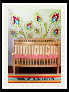 Nursery Mural by Carin Vaughn