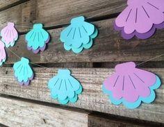 Guirlande de coquillages pour un anniversaire enfant thème sirène