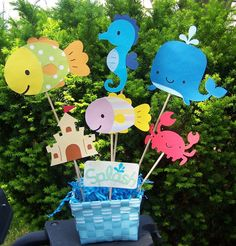 Pool Party/ Beach Party/ Birthday Party Centerpiece/ Party Decoration. $24.00, via Etsy.