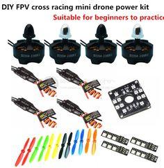 DIY FPV mini drone power kit D2204 2300KV motor + EMAX BLHeli 12A ESC+5045/6045 propellers for QAV250 / ZMR250 / robocat 270 #Affiliate
