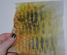 I love using tissue paper in my projects...it has a great texture.    tissue paper layering