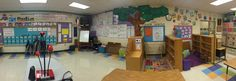 This is pano 1of 2 of classroom after the first day of just setting up furniture. I place all of my centers around the walls and student tables in the middle. Ignore the anchor charts on the walls; those were left up from last year and need to be taken down to start fresh!