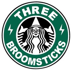 Harry Potter/Starbucks Inspired Three Broomsticks Logo Vinyl Decal for Car/ Home/Dorm/Lunch Box/Water Bottle and More! Jarry Potter, Desenhos Harry Potter, Albus Dumbledore, Harry Potter Love, Harry Potter Potions, Mischief Managed, Clip Art, Fantastic Beasts, Daniel Radcliffe