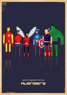 8-Bit Marvel by Paulo Capdeville, via Behance