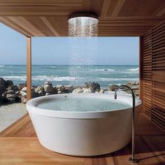 Japanese Soaking Tub with Shower Combo Design for Relaxation Idea