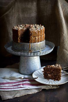 Hazelnut Buttermilk Cake with Maple Pecan Glaze